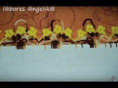 PARTE 1 DE 2: PUNTILLA A GANCHILLO (( CANASTITAS CON FLORES)). - YouTube