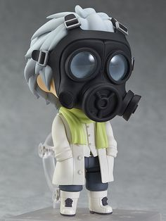 """**""""I heard my Master's voice, so I came to find him.""""** From the popular PC game ***DRAMAtical Murder*** comes a Nendoroid of **Clear**! His trademark **gas mask** is included but can also be removed to reveal his face, and he even comes with a smaller version of the mask to hold in his hands while not wearing it!  He also comes with **three different expressions** for when his face is revealed..."""