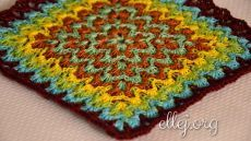 How to crochet Bargello Stitch. The essence of this technique is to use different blending colors and combinations of them so that there were flames. 70 step-by-step photos. Over 300 my FREE Crochet Tutorials! Form Crochet, Crochet Quilt, Crochet Squares, Crochet Chart, Crochet Motif, Crochet Throws, Crochet Stitches Patterns, Crochet Designs, Bargello