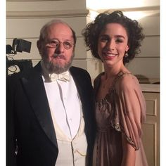 #TBT Primer día de rodaje, padre e hija en #SeisHermanas: Celia y Don Fernando Silva.