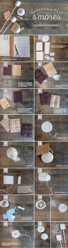 DIY S'mores Felt Craft