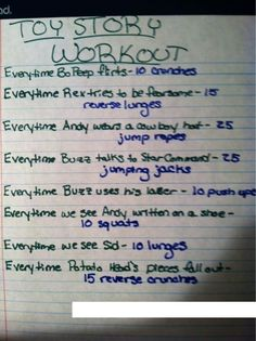 toy story movie workout