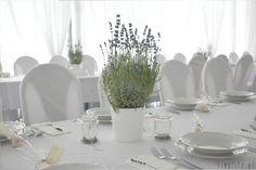 lawenda stół weselny