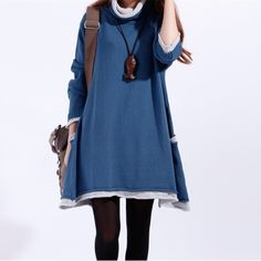 Casual loose cotton sweater Knitted