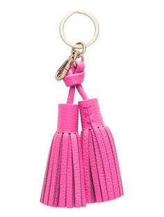 leather double tassel keychain - kate spade new york