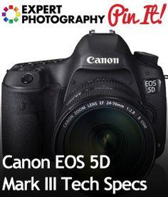 4061878b97e2 Canon EOS 5D Mark III Tech Specs