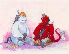 Items similar to funny illustration 'Cat Hoarders Club' illustration -art print on Etsy Hot Bad Boy, Watercolor Horse, Funny Illustration, Baymax, Cat Drawing, Drawing Ideas, Big Hero 6, Geek Culture, Comic Character