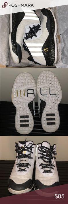 san francisco 81355 b7428 Adidas John Wall All Star Shoes White Black Gold John Wall All Star Shoes  size Only worn twice.