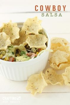 Cowboy Salsa - the perfect appetizer!  From Crafting E via Thirty Handmade Days