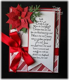 Created with Our Daily Bread Designs Fancy Foliage Die and Candy Cane stamp sets