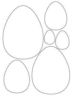 Molds Easter eggs, egg patterns for crafts