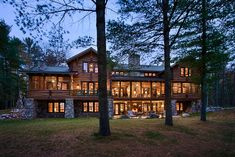 PORCH. Dream log house. From Town & Country Log Homes.
