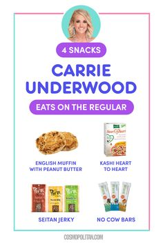 What Carrie Underwood Eats in a Day to Stay Healthy and Fit Healthy Summer Recipes, Healthy Foods To Eat, Clean Recipes, How To Stay Healthy, Healthy Eating, Healthy Habits, Crockpot Recipes, Clean Eating, Carrie Underwood Vegan