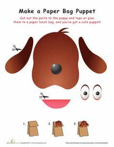This adorable paper bag hound is just begging to be brought to life! Click on the image to download the worksheet.