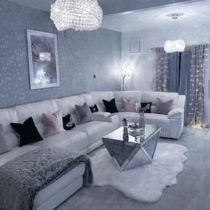 the living room is the heart of the home . Decor Home Living Room, Glam Living Room, Room Decor Bedroom, Living Room Designs, Home Decor, Living Rooms, Apartment Living, Apartment Ideas, Gray Interior