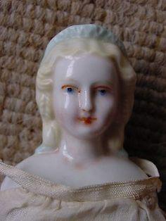 RARE Tiny Antique KPM Meissen or Kister China Head Doll | eBay