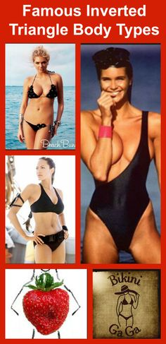 Strawberry Body Types: Kate Upton, Elle Macpherson & Angelina Jolie #inverted body types