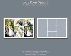 4 picture collage template