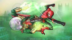 Spider-Man: Far From Home by TomislavArtz on DeviantArt Marvel Comics, Marvel Heroes, Marvel Avengers, Spiderman Art, Amazing Spiderman, Mysterio Marvel, Marvel Drawings, Marvel Fan Art, Best Superhero
