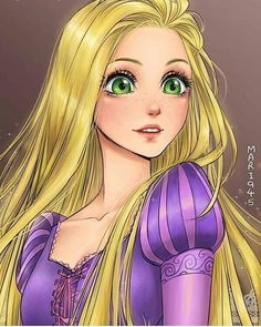 Disney Drawing Rapunzel ~ Maryam - Hi. Im Maryam. I always loved anime and Disney and wanted to draw fan arts of all my favorite characters since childhood. Disney Rapunzel, Disney Girls, Walt Disney, Tangled Rapunzel, Disney Punk, Disney Anime Style, Esmeralda Disney, Disney Princess Drawings, Disney Princess Art