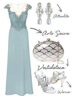 vestido madrinha azul claro