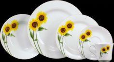 sunflower ceramic dinnerware set | Pattern Dinnerware, Patterned Dinnerware & Plates | Pottery Barn