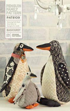 BasicGrey Penguin Family Pattern