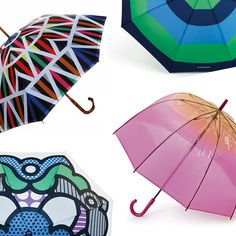 Fall time is in full swing, which means the umbrellas are out! So, why  settle for your usual black pixie umbrella when there are oh-so-many more  creative alternatives out there?