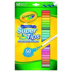 Crayola 50ct Supertip Washable Markers 7$ (for me!!! not the kiddos lol)
