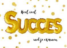 Succes examen ballon goud confetti, verkrijgbaar bij #kaartje2go voor € 1,89 Dog Names, Stress, Symbols, Letters, Wallpapers, Halloween, Products, Icons, Wallpaper