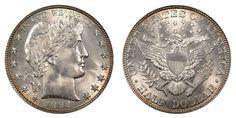 1892 Barber Silver Half Dollar