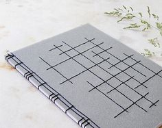 Items similar to Crossing Lines. Japanese Zen Book on Etsy Japanese Notebook, Japanese Books, Japanese Stab Binding, Portfolio Book, Portfolio Ideas, Planners, Bookbinding Tutorial, A5 Notebook, Cool Books