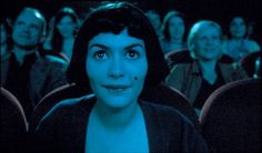 """Amélie (Audrey Tautou): [whispering in theater] """"I like to look for things no one else catches. I hate the way drivers never look at the road in old American movies."""" -- from Amélie (2001) directed by Jean-Pierre Jeunet"""