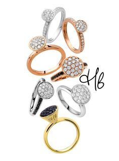 Hulchi Belluni Funghetti Collection Jewelry Rings, Fine Jewelry, Jewellery, Fashion Necklace, Fashion Jewelry, Glitz And Glam, Stackable Rings, Bangles, Wedding Rings