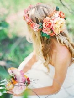 the aloha do: floral and flower crowns and hairstyles  follow my board for more fiji wedding ideas http://www.pinterest.com/lkm38/my-perfect-wedding-in-fiji/