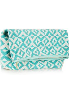 SOPHIE ANDERSON Abril leather-trimmed crocheted cotton clutch €377.97 http://www.net-a-porter.com/products/548194