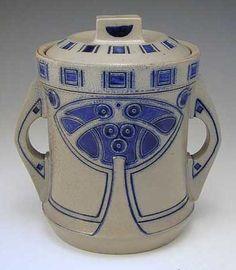 Peter Behrens Art Nouveau Ceramic Biscuit Barrel click now for more info. Glazes For Pottery, Ceramic Pottery, Pottery Art, Ceramic Light, Ceramic Cups, Corporate Design, Belle Epoque, Jugendstil Design, Colored Vases