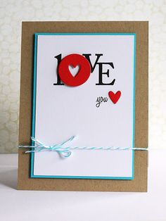 """Love"" card.  cute and simple"