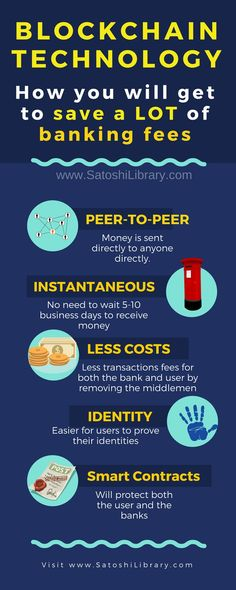 Banks are embracing blockchain technology and here is why #blockchaintechnology #smartcontracts #fintech #infographic