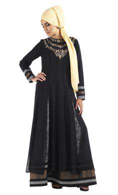 Double Layer Peek-a-boo abaya.