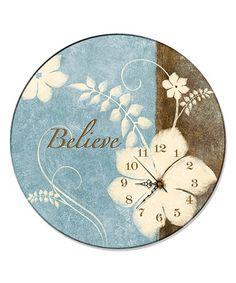 Loving this 'Believe' Wall Clock on #zulily! #zulilyfinds