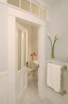 Greek Revival Bath With Transom Windows   Traditional   Bathroom   Boston    Charlie Allen Renovations