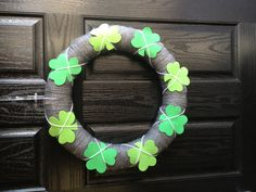 St Pattys Day wreath. Part of my interchangeable wreaths :)