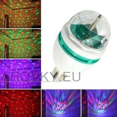 Generic RGB Crystal Ball Effect Light LED Rotating Stage Lighting For Disco DJ Party (I actually have this and recommend it) Disco Light Bulb, Disco Lights, Light Bulb Lamp, Ball Lights, Party Lights, Led Lamp, Light Led, Dj Party, Disco Party
