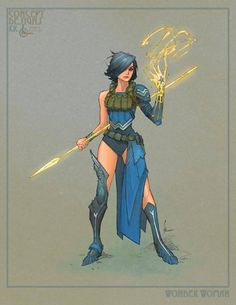 Princess Diana of Themyscira by Kenneth Rocafort. I like this redesign, but where's the red?