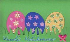 Velikonoční přáníčka s vajíčky Easter Crafts For Kids, Sd, Easter, Spring, Easter Activities, Easter Crafts For Toddlers