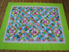 Vicki's Fabric Creations: Celtic Solstice baby quilt top