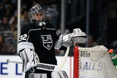 LOS ANGELES, CA - DECEMBER 21: Jonathan Quick #32 of the Los Angeles Kings looks on during the third period of a game against the Colorado Avalanche at Staples Center on December 21, 2017 in Los Angeles, California. (Photo by Sean M. Haffey/Getty Images)