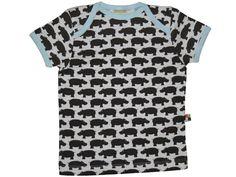 T-Shirt mit Nilpferden in chocolate von loud + proud
