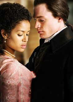 Gugu Mbatha-Raw & Sam Reid in 'Belle' (2014). Their acting is phenomenal. Oh I could watch that movie a thousand times. (inspiration for Zola Sadiki in my WIP)